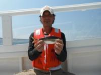 <p>良型アジ好釣!! 引き続き根魚も好釣!</p> <p>沖一文字フェンスの内側でよく釣れています。</p> <p>茨木市の島田様、沖の白灯でも26cmのアジ2匹</p>