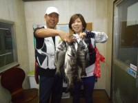 <p>和泉市の松原様、旧一文字で、35cm~45cmのチヌ7匹 落とし込み イガイ</p>