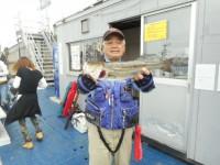 <p>東大阪市の今中様、中波止3番で、ハネ50cm1匹</p> <p>ウキ釣り 餌シラサエビ</p>