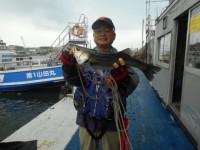 <p>東大阪市の今中様、中波止3番で、ハネ50cm 1匹</p> <p>ウキ釣り 餌シラサエビ</p>