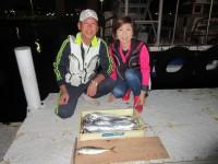 <p>和泉市の松原様、沖の北で、31.5cmのアジ・タチウオ 12匹</p>