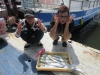 <p>岸和田市の木村様 沖の北で</p> <p>35cmまでのツバス 5匹・45cmのサゴシ</p> <p>85cmのタチウオ 2匹</p>
