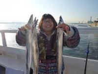 <p>大阪狭山市の加登様 沖の北で早朝</p> <p>タチウオを ゲット</p> <p>イワシの引き釣りでの釣果です</p>
