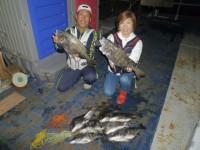 <p>和泉市の松原様 沖の北で 52cmを頭に夫婦で11匹</p> <p>落とし込み イガイ</p>