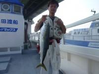 <p>松原市の橘様、沖の一文字北で、メジロ79cm 1匹</p> <p>のませ釣り 餌アジ</p> <p>&nbsp;</p>