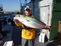 <p>堺市の山根様、沖の一文字北で74cmのメジロ釣られました!</p> <p>サビキで釣れたタナゴの、のませ釣りです。</p> <p>他にもサビキで18cmほどのサヨリも釣れていました♪</p>