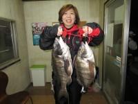 <p>和泉市の松原様、沖の一文字北でイガイの落とし込みで</p> <p>45cmまでのチヌ2匹釣られました!</p>
