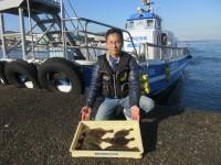 <p>吹田市の目崎様、沖のカーブで、30cmまでのカレイ 6匹</p> <p>アオイソメ</p>