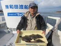 <p>奈良市の宮本様、沖のカーブで、31cmまでのカレイ 4匹・29cmのアコウ</p> <p>投げ釣り 餌アオイソメ</p>