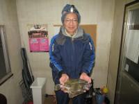 <p>平野区の松井様、沖一文字カーブで35.5cmのカレイです!!</p> <p>マムシの投げ釣り</p>