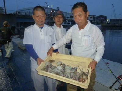 <p>河南町の永田様(3人)、沖の一文字北で、タコ 500gまで16匹</p> <p>タコジグ・タコエギ</p>