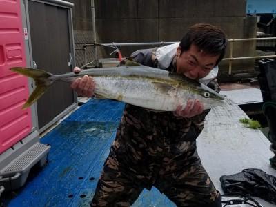 <p>東大阪市の大北様、沖の一文字北で、ブリ 90cm 1匹</p> <p>のませ釣り 餌アジ</p>