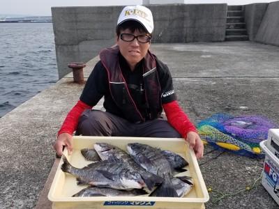 <p>堺市の高野様、沖の一文字白灯で、チヌ 39cmまで9匹</p> <p>紀州釣り 餌オキアミ</p>