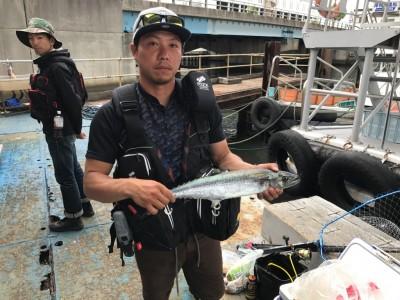 <p>熊取町の高田様、沖一文字北で</p> <p>サゴシ52cmまで1匹</p> <p>ルアー釣り</p>