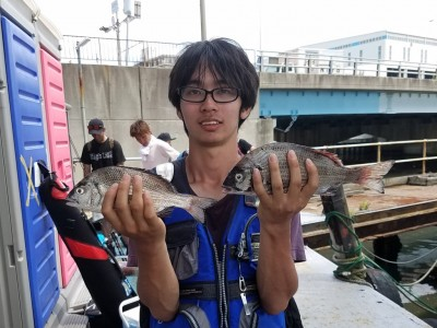 <p>堺市の南田様、沖の一文字北で、チヌ 30cmまで2匹</p> <p>フカセ釣り 餌オキアミ</p>