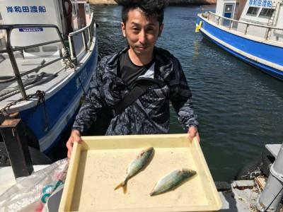 <p>和泉市の中二様、沖一文字北で</p> <p>ツバス30cmまで2匹</p> <p>ルアー釣り</p>