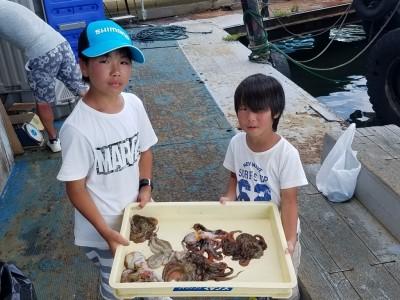 <p>滋賀県の割塚様、沖の一文字北で、タコ 350gまで7匹</p> <p>タコエギ</p>