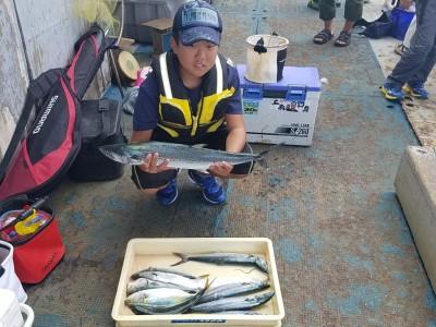 <p>大阪市の尾野様、沖の一文字北で、サゴシ 68cmまで5匹・ツバス 35cmまで4匹・太刀魚 指3本サイズ 1匹</p> <p>ジグ</p>