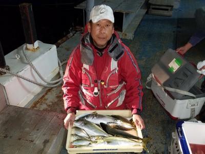 <p>和泉市の松原様、旧の一文字赤灯で、ハマチ 51cmまで4匹・アジ 28cmまで11匹・チヌ 43cm 1匹</p> <p>ハマチ(のませ釣り・アジ)アジ・チヌ(サビキ釣り・アミエビ)</p>