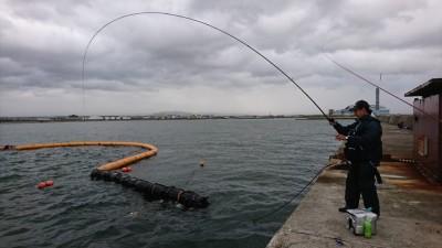 <p>ハネ研 岩田様 沖の北 エビ撒き釣り ヒットシーンをパシャッ!もちろん釣り上げましたよ♪ 54.0cmでした。</p>