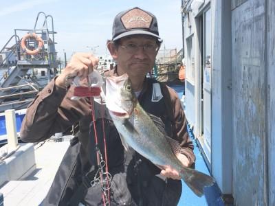 <p>山本様 沖の南 エビ撒き釣り ハネ50.0cm</p> <p>釣果写真へのご協力、ありがとうございます♪</p> <p>ハネダービーにもエントリー致します。</p>