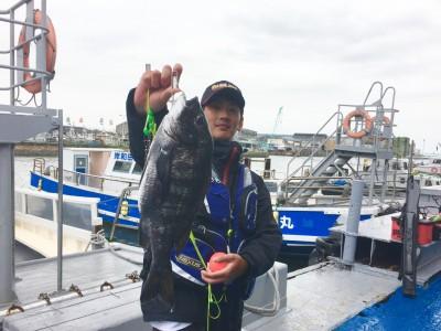 <p>マックススタッフ緒方さん 沖の北でのフカセ釣りで、47cmの見事なチヌをGetです。</p> <p>悪天候で釣り辛い条件でしたが、流石ですね♪</p> <p>お疲れ様でした!</p>