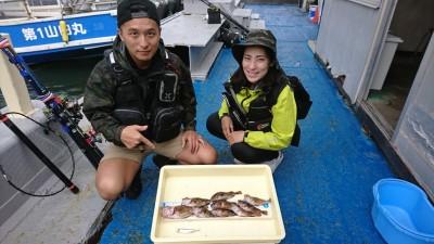<p>浦田様 沖の北 さぐり釣り ガシラ9匹!</p> <p>シラサエビを使ってのさぐり釣りでロックフィッシュGETです! 美味しいお魚、堪能できますね♪ 釣果写真へのご協力、ありがとうございます。</p>