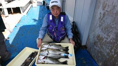 <p>ハネ研 今中会長様 沖の南 エビ撒き釣りで48㎝までのハネ6匹 今日はハネがいい感じです♪</p>