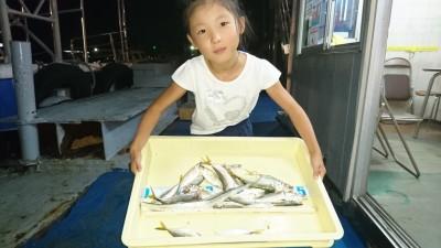 <p>竹内様 沖の北 サビキ/ウキ釣り サバ/アジ/タチウオGET</p> <p>台風後ですが、小魚は安定しています(^^♪おめでとうございます</p>