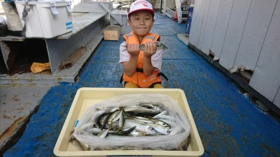<p>八尾市のゆうき君 沖の北 サビキ釣りで中サバ&amp;小アジ大漁!サゴシはゆうき君がルアーで釣りました♪</p>