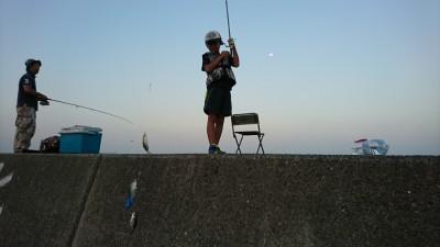 <p>リアルタイム! 沖の北 サビキ釣りで小アジが鈴なりでした。旧一文字でも釣れていましたよ。</p>