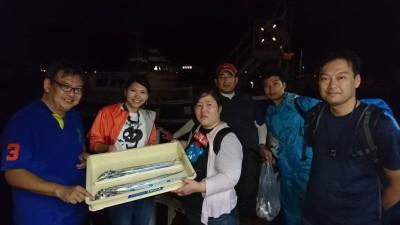 <p>北川様 沖の北 ウキ釣り タチウオ多数GET</p> <p>団体様で楽しめましたでしょうか!?おめでとうございます</p>