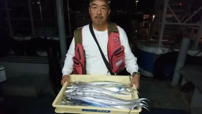 <p>和田様 沖の北 ウキ釣り タチウオ多数GET</p> <p>ウキでこれだけ釣られれば、名人です(^^♪おめでとうございます!</p>