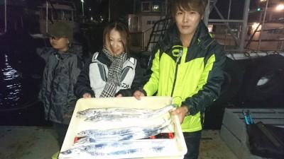<p>松田様 沖の北 ワインド タチウオ多数GET</p> <p>今日も安定して釣れてますね(^^♪おめでとうございます!</p>