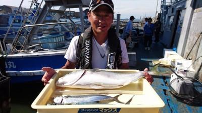 <p>森川様 沖の北 のませ/ショアジギ メジロ/サゴシGET</p> <p>台風後の青物好調ですね(^^♪おめでとうございます</p>