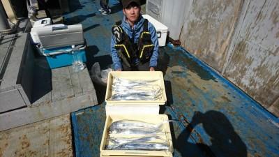 <p>大迫様 沖の北 ワインドでタチウオ20匹!朝の釣果です。「はんぱないって…」とのコメントいただきました。</p>