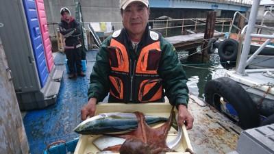 <p>前田様 沖の北 のませ釣り/タコエギ メジロ/タコ/タチウオ/ヒラメGET</p> <p>高級魚を沢山釣られていますね(^^♪おめでとうございます!</p>