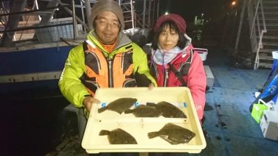 <p>松永様 沖の北 投げ釣り カレイGET</p> <p>カレイ多数おめでとうございます(^^♪</p>