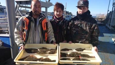 <p>ハゲヒゲ様 沖の北 投げ釣り カレイ多数GET</p> <p>今日もカレイは好調!釣れてる内にご来場下さいね(^^♪おめでとうございます</p>