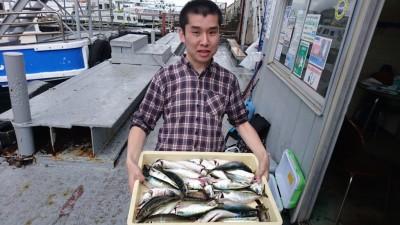 <p>西口様 沖の北 サビキ サバ/中アジGET</p> <p>雨でも魚は元気です!魚は毎日濡れてますからね(^^♪おめでとうございます!</p>