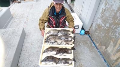 <p>小松名人 沖の北 フカセ チヌ~48cmまで10尾GET</p> <p>強風で釣り辛い中、見事な釣果です(^O^)流石です!おめでとうございます!</p>