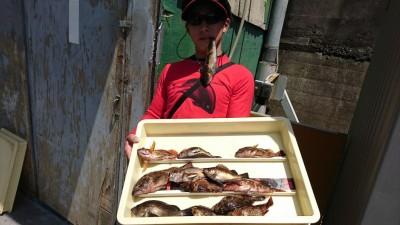 <p>田中様 沖の北 エビ撒き釣りで根魚いろいろ!アイナメ、ガシラ、メバル、アイナメと根魚4種揃いましたね♪</p>