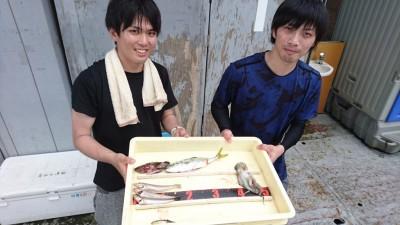 <p>(株)キンコウ様 沖の北 投げ釣り ガシラ/キス/タコ/穴子GET</p> <p>タコシーズンですが、良型のキスも釣れますね!おめでとうございます</p>