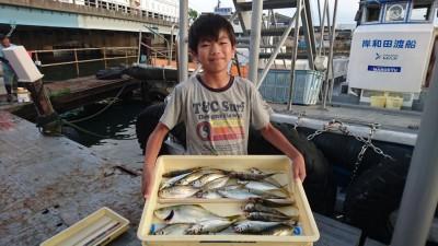 <p>沖の北 サビキ アジ/ツバスGET</p> <p>中アジ良く釣れてますね(^O^)おめでとうございます</p>