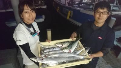 <p>奥田様 沖の北 テンヤ/タチウオ多数 ショアジギ/ツバスGET</p> <p>今日も爆釣してます!今日は型がよいので良かったです(^O^)おめでとうございます</p>