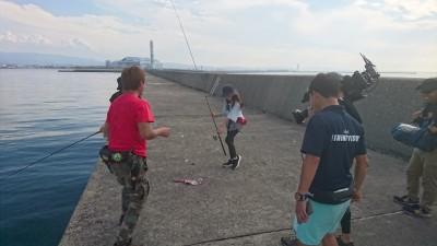 <p>本日沖の北にて、釣りビジョンの関西発らしく派の撮影が行われております(^O^)初回放送日は10月24日の21:00~みたいですよ!</p>