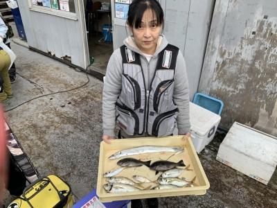 <p>長尾様 沖の北 太刀魚・中アジ・グレ 太刀魚はキビナゴを使ったテンヤでアジは朝イチに豆アジ〜中アジ26cmまでをGETです♪のませ釣りでの青物もぽつぽつ釣れていましたよ♪まだ全然狙えます♪おめでとうございます(^o^)</p>
