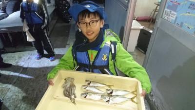 <p>いくなが様 沖の南 タコジグとサビキでタコとアジGET</p> <p>タコも狙えば釣れてますね!おめでとうございます(^O^)</p>