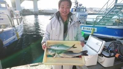 <p>木村様 沖の南 ノマセ ハネとハマチGET</p> <p>今日はノマセ好調ですね!おめでとうございます(^O^)</p>