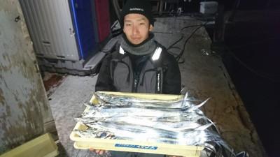 <p>鷲様 沖の北 ワインドとミノーでタチウオ多数GET</p> <p>今日も良く釣れてますね!おめでとうございます(^O^)</p>